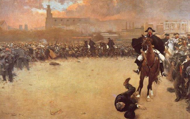The Charge or Barcelona 1902, Ramon Casas i Carbo