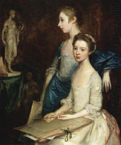 The Artist Daughters, Molly and Peggy, Thomas Gainsborough