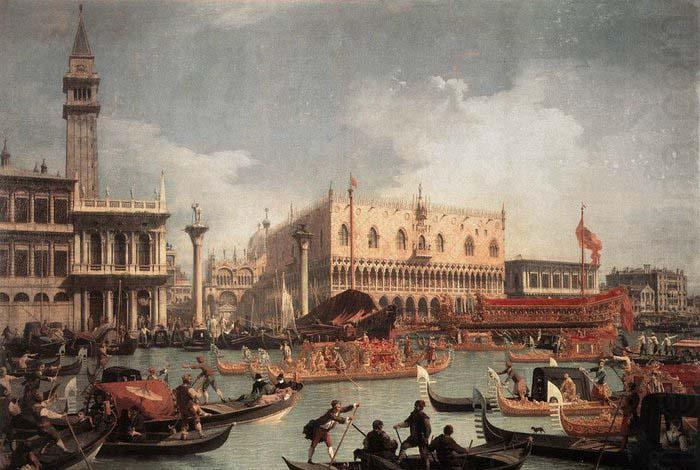 The Bucintore Returning to the Molo on Ascension Day c, Canaletto