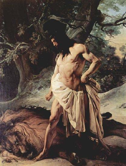 Samson and the Lion, Francesco Hayez