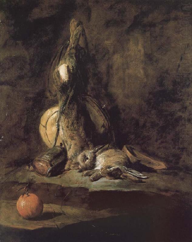 Rabbit hunting with two powder extinguishers and Orange, Jean Baptiste Simeon Chardin