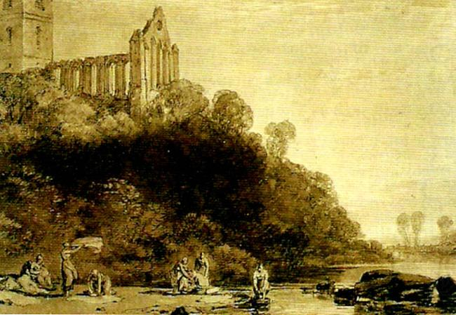 dumblain abbey, scotland, J.M.W.Turner