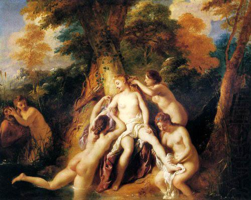 Diana And Her Nymphs Bathing, Jean-Francois De Troy