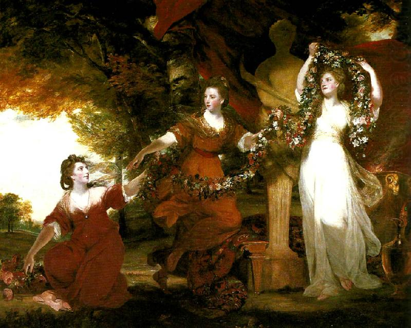 the montgomery sisters, Sir Joshua Reynolds