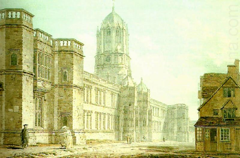 christ church from near carfax, edward dayes