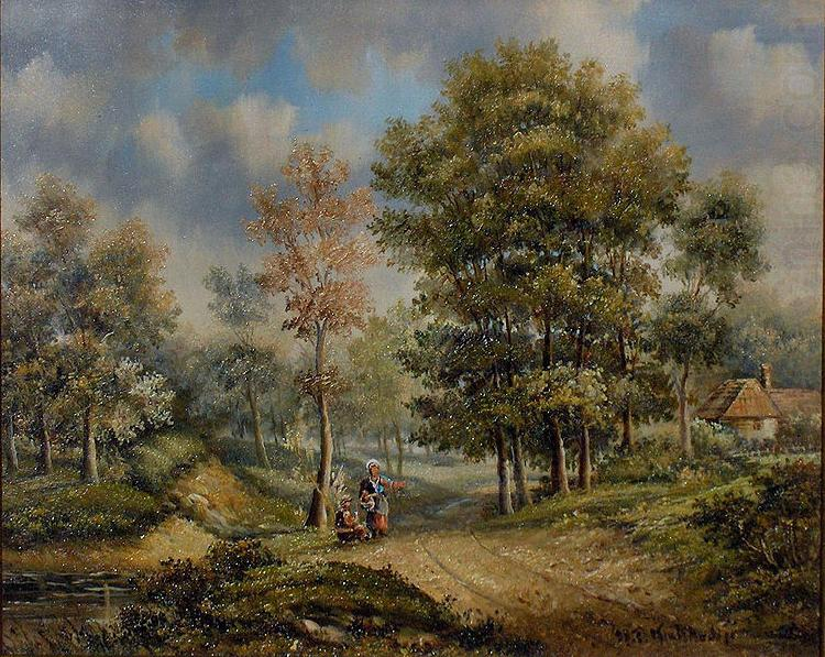 Walk in the woods, Barend Cornelis Koekkoek