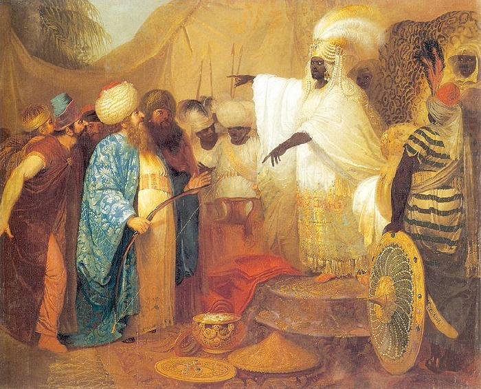 Ethiopian king meeting ambasadors of Persia, Franciszek Smuglewicz