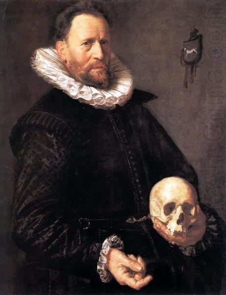 Portrait of a Man Holding a Skull, Frans Hals
