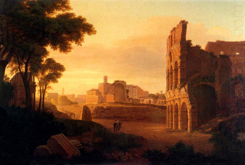 Rom, Colosseum and the Roman Forum, Rudolf Wiegmann