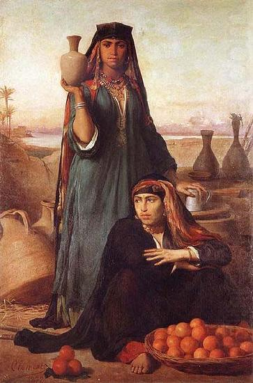 Women Selling Water and Oranges on the Road to Heliopolis, unknow artist