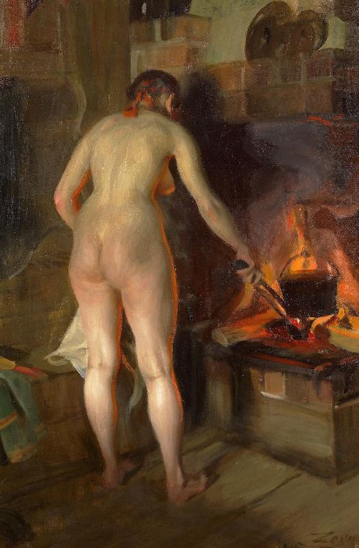 Cooking Potatoes, Anders Zorn
