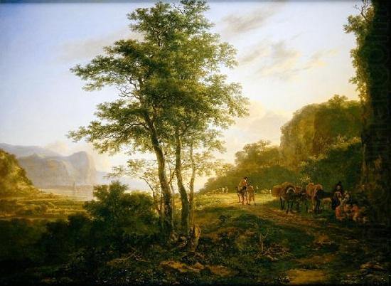 Italianate Landscape with travellers, Jan Both