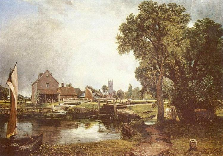 Schleuse und Muhle in Dedham, John Constable