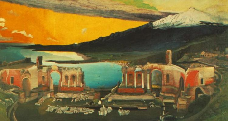 Ruins of the Ancient theatre of Taormina, Tivadar Kosztka Csontvary