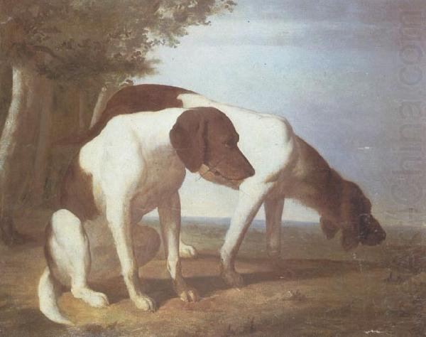 Foxhounds in a Landscape, Jacques-Laurent Agasse