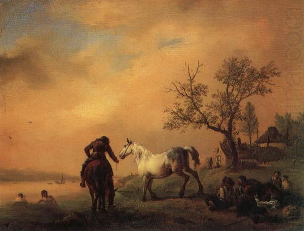 Horses Being Watered, Philips Wouwerman