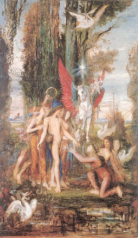 Hesiod and the Muses, Gustave Moreau